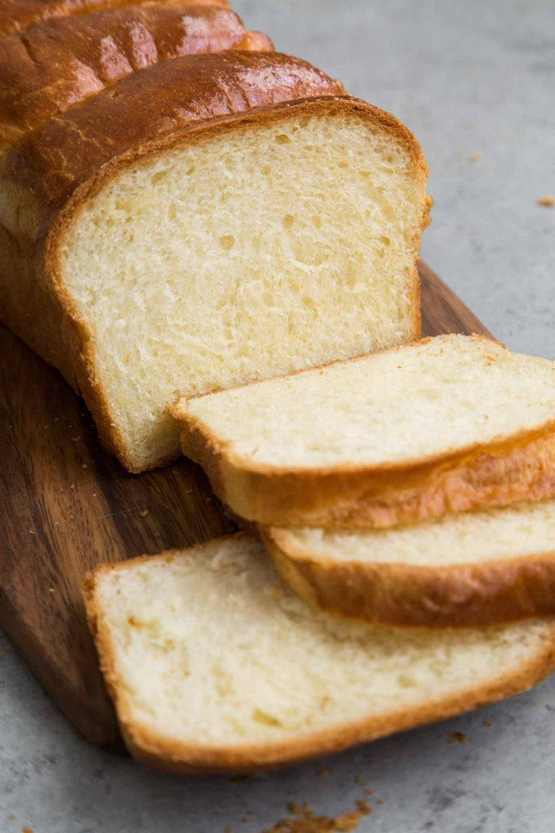 sliced Brioche Loaf Bread