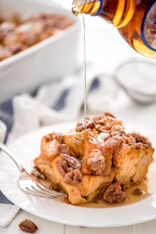 Pumpkin French Toast Casserole recipe - by RecipeGirl.com