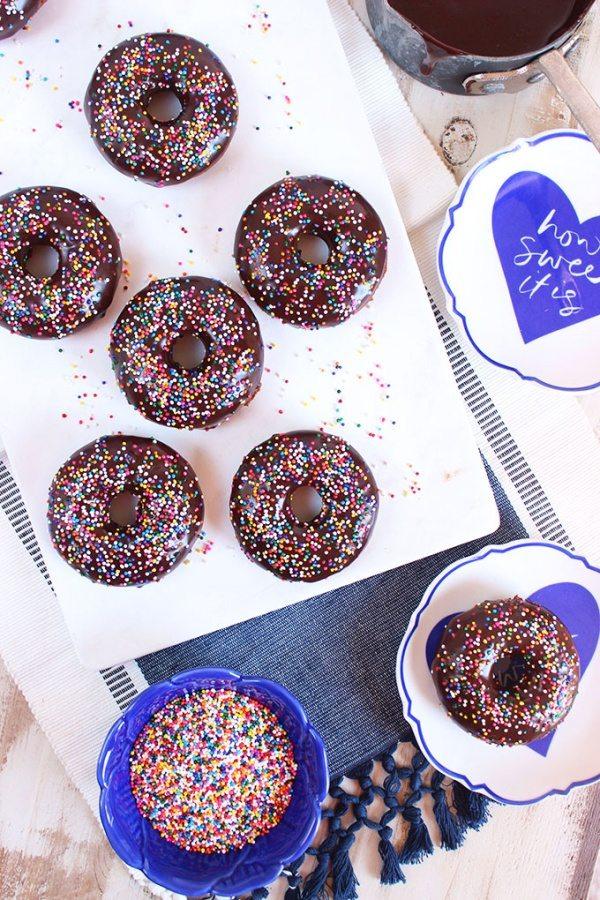 Baked Chocolate Glazed Donuts recipe from RecipeGirl.com
