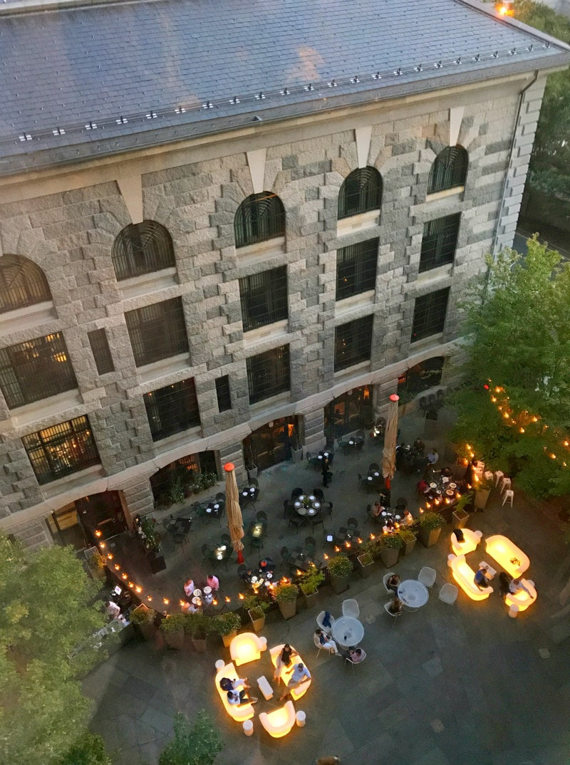 Liberty Hotel Boston - view to interior courtyard