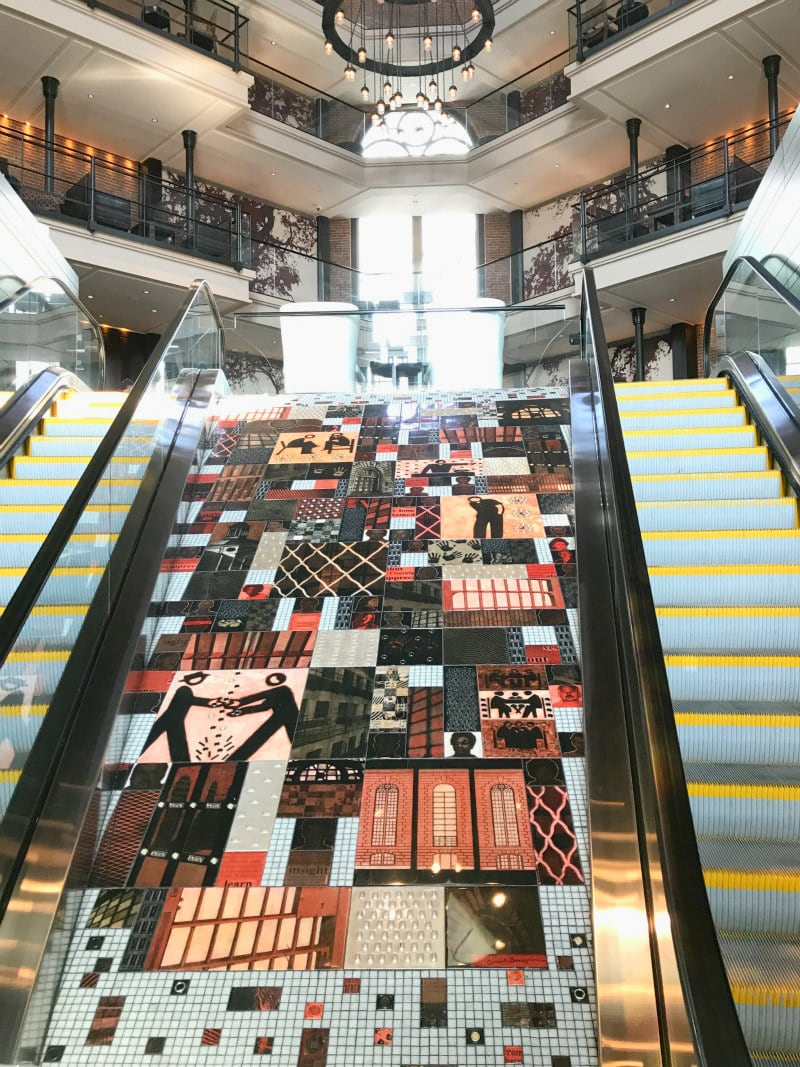 Liberty Hotel Boston - escalator entrance