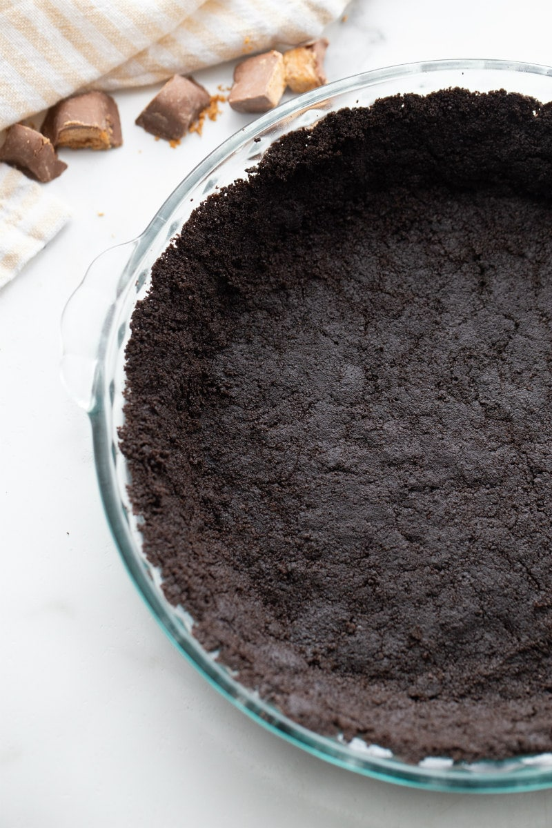 Oreo Crust pressed into a pie plate