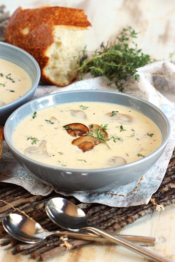Cream of Mushroom Soup Recipe | RecipeGirl.com
