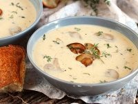 Cream of Mushroom Soup Recipe | RecipeGirl.com