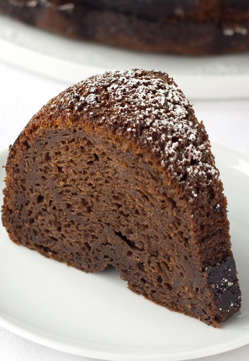 slice of Kahlua Cake