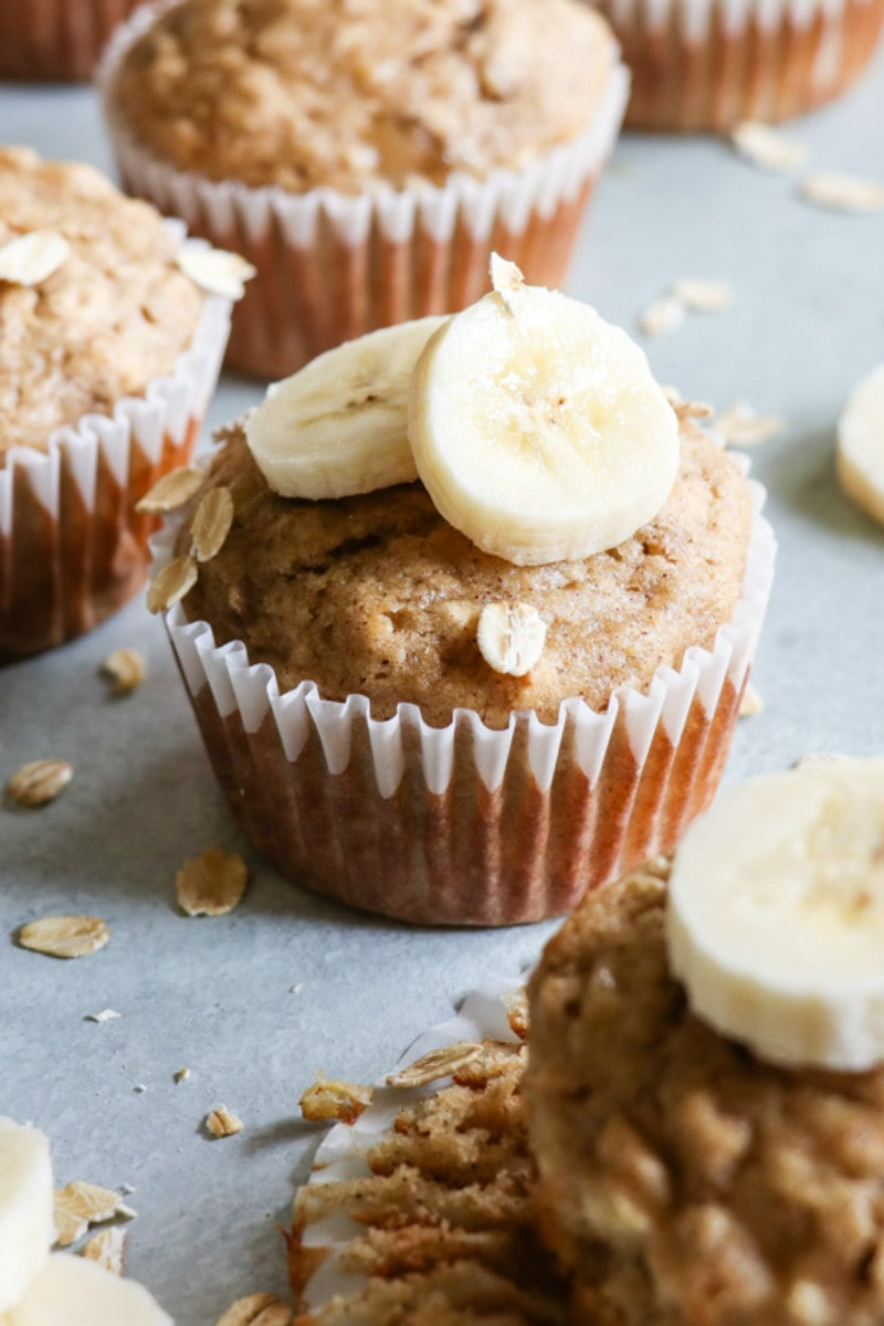 Bananas and Banana Oat Muffins