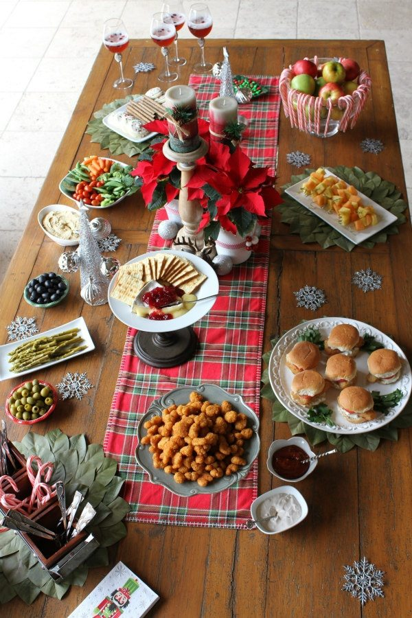 Easy Holiday Entertaining with Gorton's Seafood: showing you how to create an easy holiday appetizer display table incorporating quick, easy and delicious frozen seafood options.