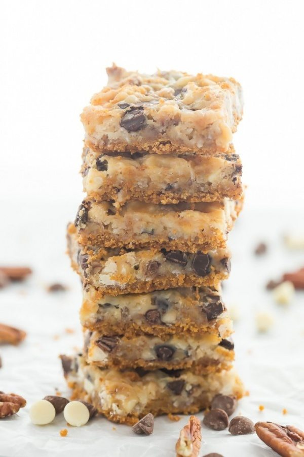 Seven Layer Bars recipe by RecipeGirl.com