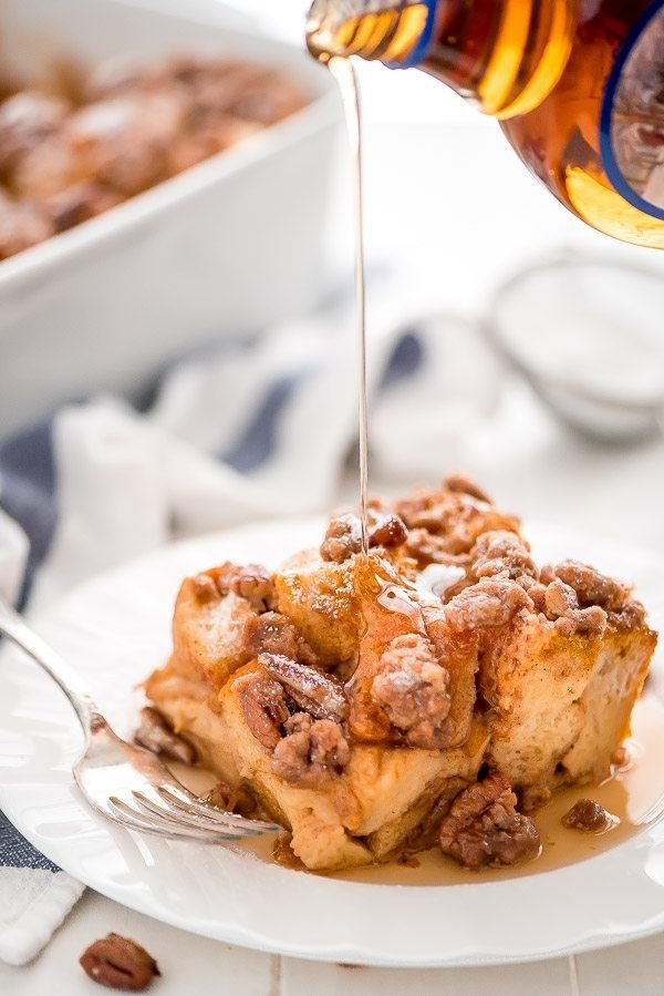 Pumpkin French Toast Casserole recipe by RecipeGirl.com