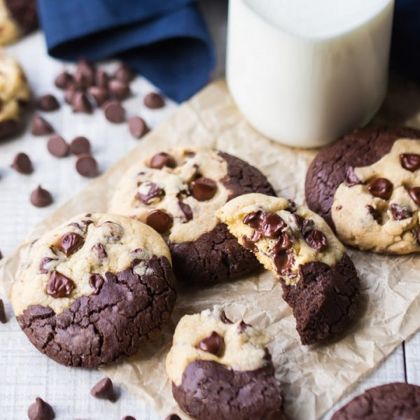 Brookie Cookie recipe from RecipeGirl.com