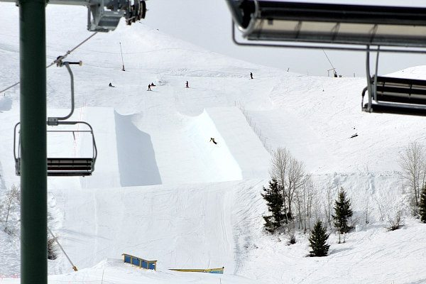 Dollar Mountain Terrain Park in Sun Valley, Idaho