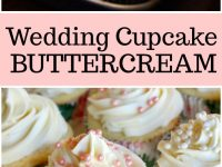 pinterest collage image for wedding cupcake buttercream