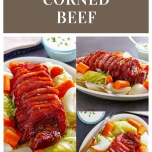 pinterest collage image for irish corned beef and cabbage