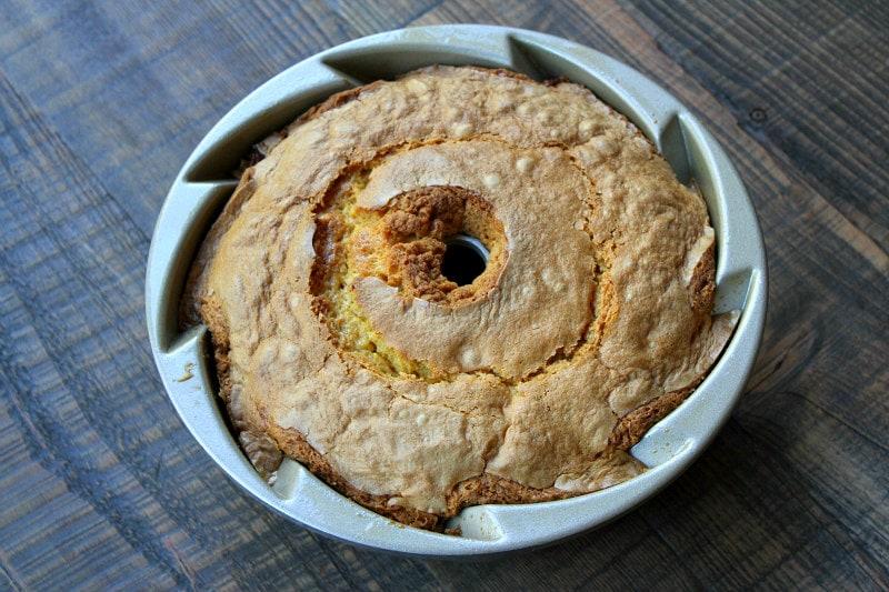Irish Cream Bundt Cake in a bundt cake pan