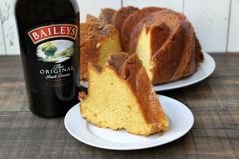 Slice of Irish Cream Bundt Cake