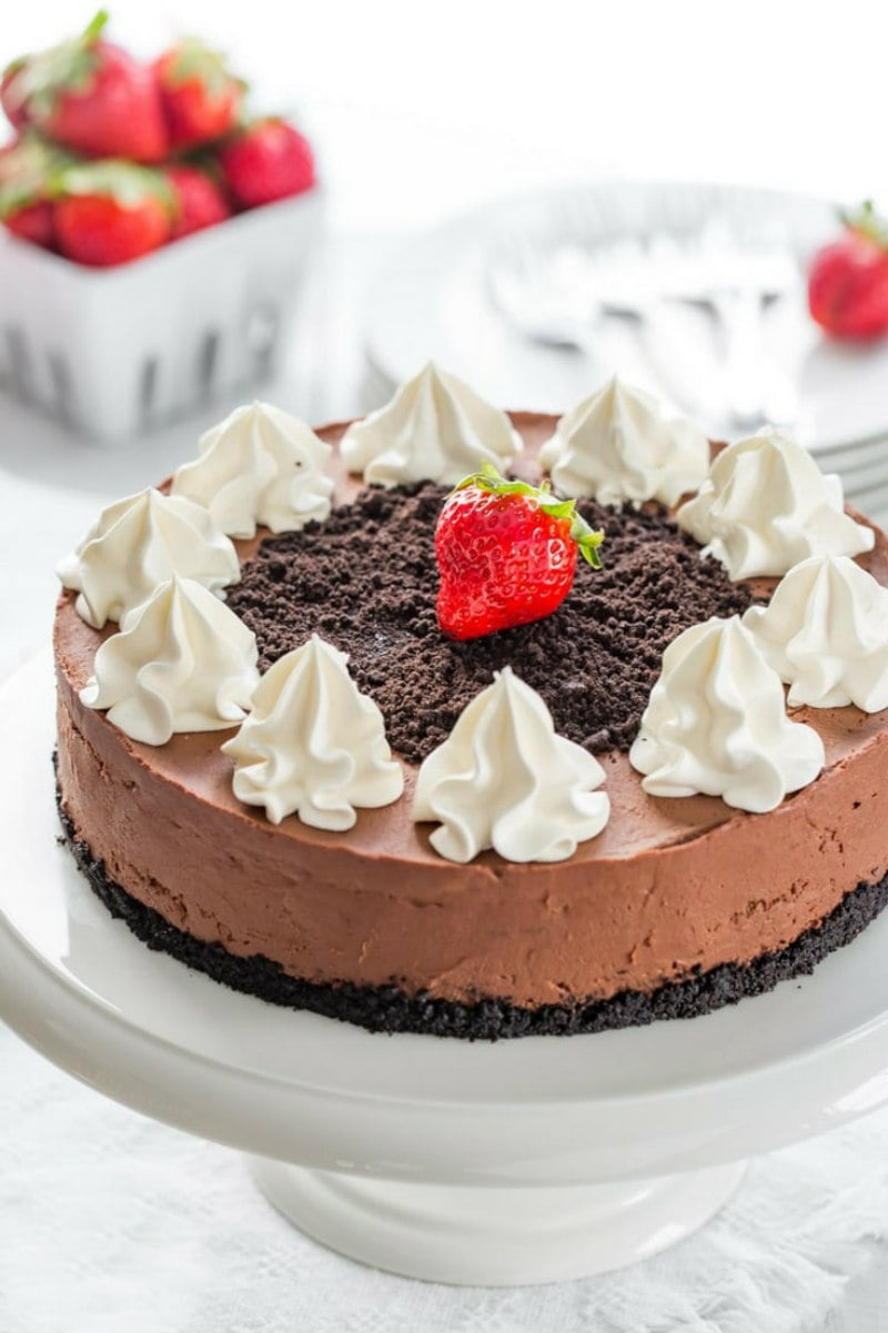 No Bake Baileys Chocolate Cheesecake