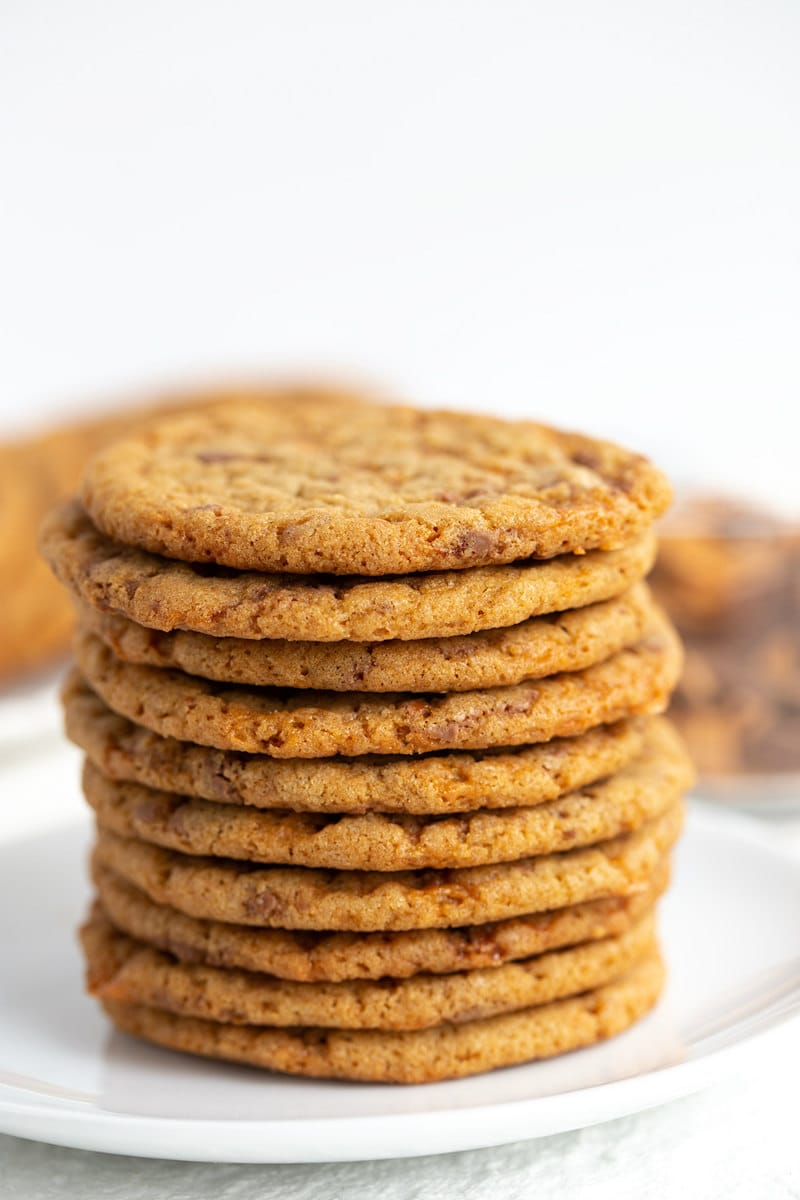 stack of Butterfinger Cookies