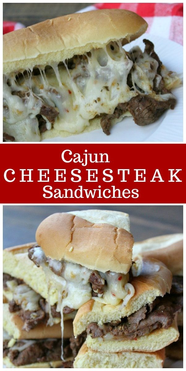 These Cajun Cheesesteak Sandwiches are the perfect easy dinner recipe. #cajun #cheesesteak #sandwich #cheese #recipe #easy #dinner