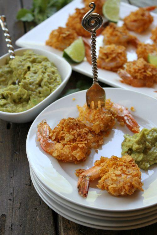 Salsa Ranchera Shrimp with Guacamole