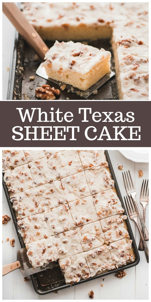 White Texas Sheet Cake Southern Living