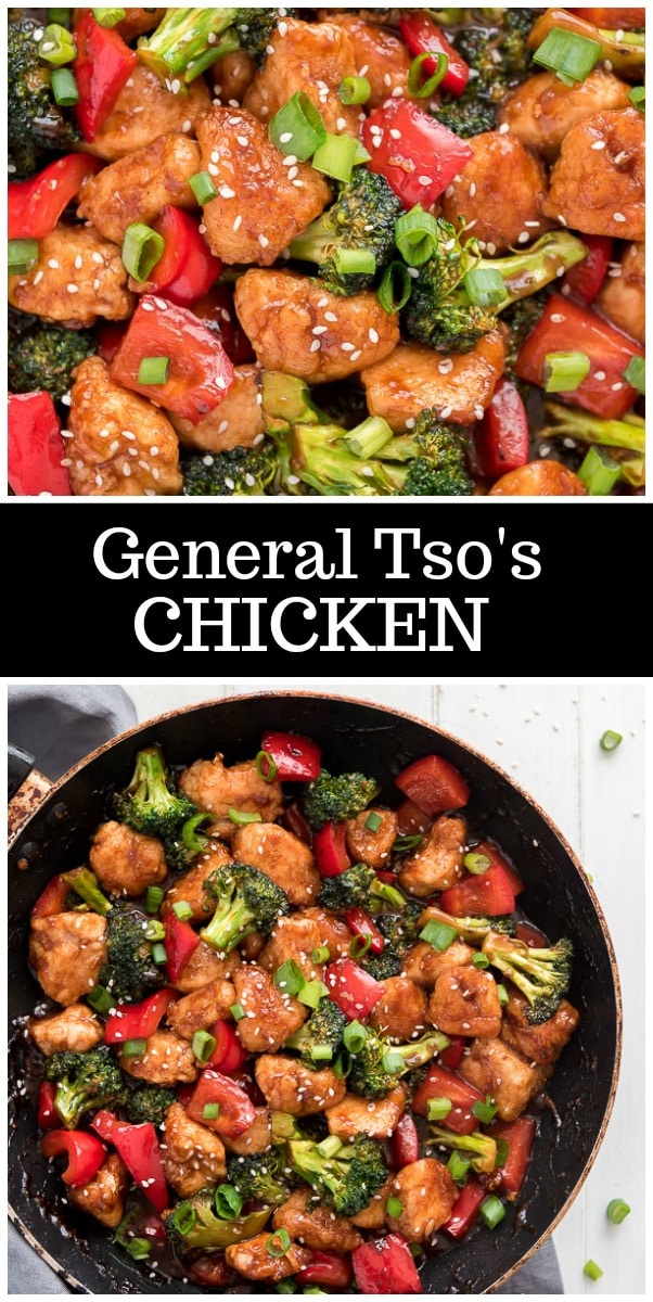 General Tso's Chicken recipe from RecipeGirl.com #asian #stirfry #chicken #recipe #RecipeGirl