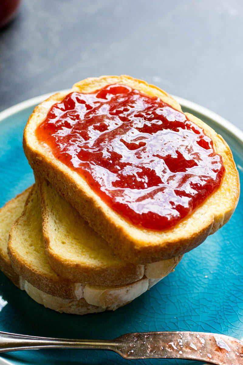 Instant Pot Strawberry Jam on toast