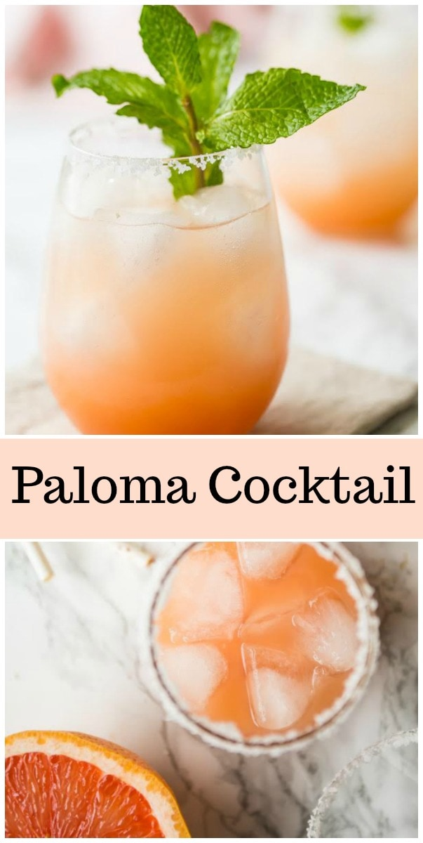 Paloma Cocktail recipe from RecipeGirl.com #paloma #cocktail #drink #grapefruit #tequila #recipe #RecipeGirl