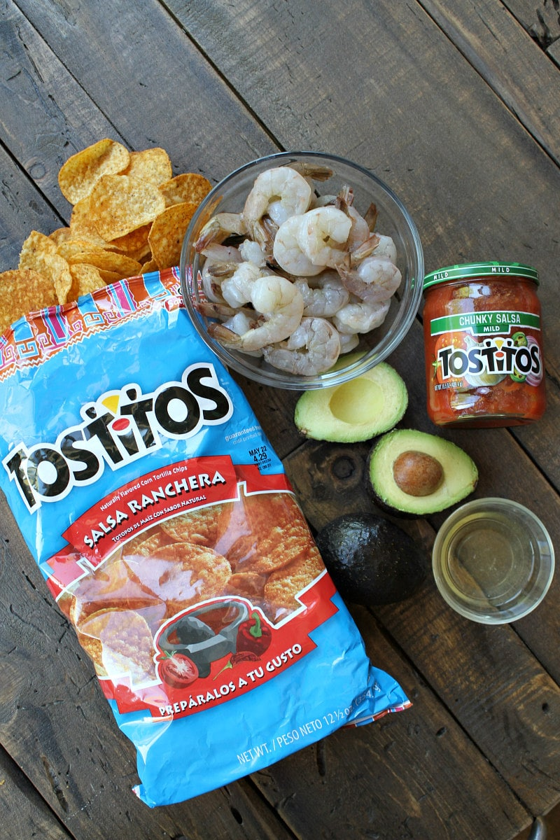 ingredients for Crispy Baked Salsa Ranchera Shrimp