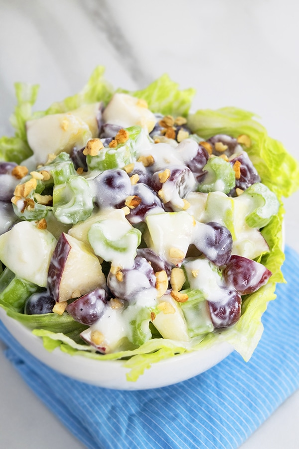 Waldorf Salad in Lettuce Cup