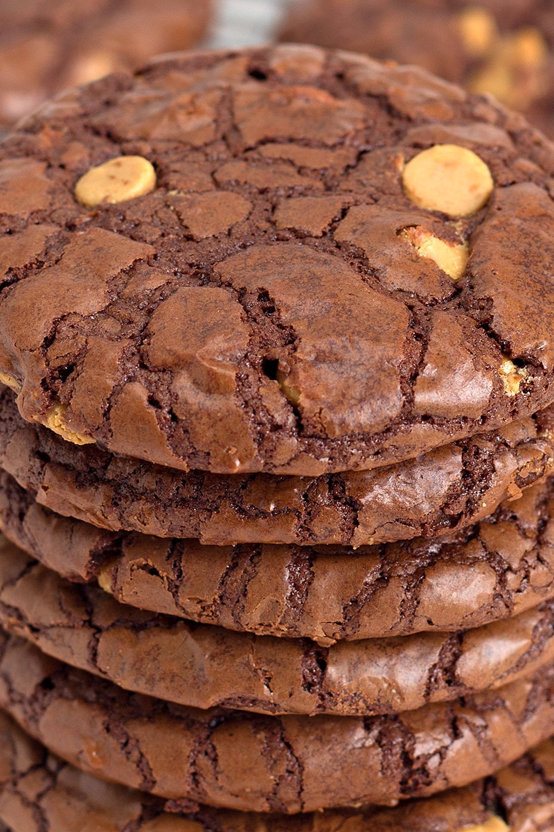 stack of Chocolate Wows cookies