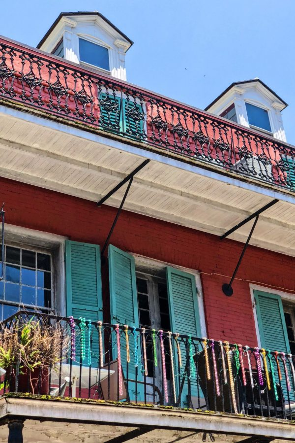 Beads on Balconies, New Orleans