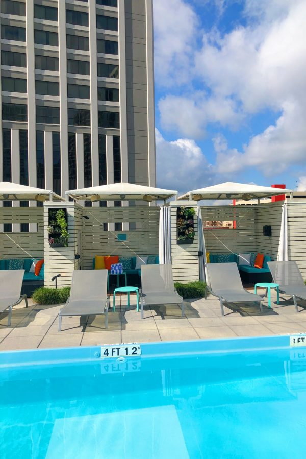 Pool Cabanas at Le Méridien Hotel, New Orleans