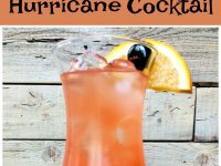 pinterest collage image for hurricane cocktail