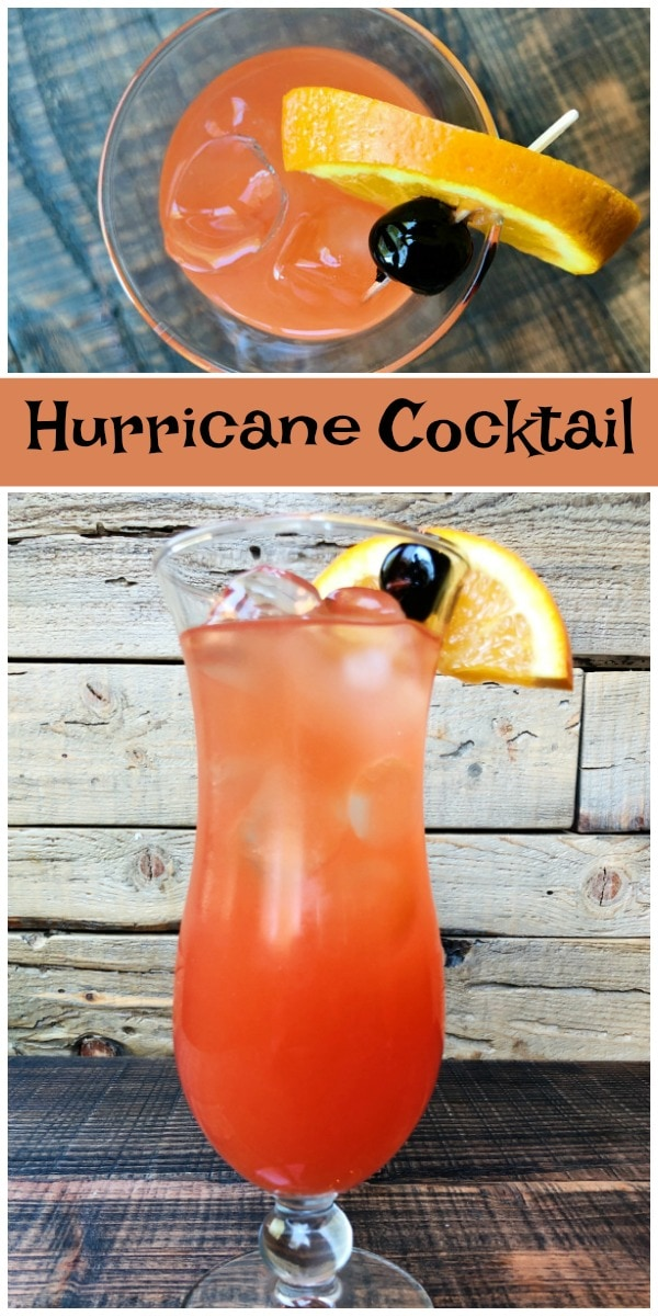 Classic Hurricane Cocktail recipe from RecipeGirl.com #Hurricane #cocktail #recipe #RecipeGirl