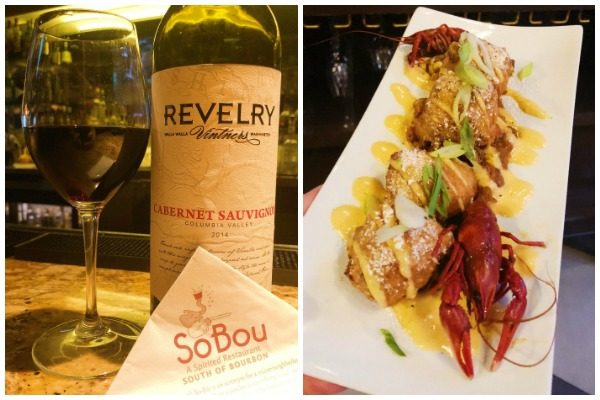 Revelry Wine and Crawfish Beignets at SoBou