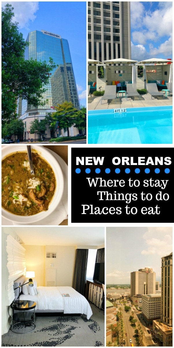 Hotel Review: Le Méridien Hotel, New Orleans plus additional suggestions for where to stay, things to do in and around the city and  plenty of suggestions for places to eat and drink.