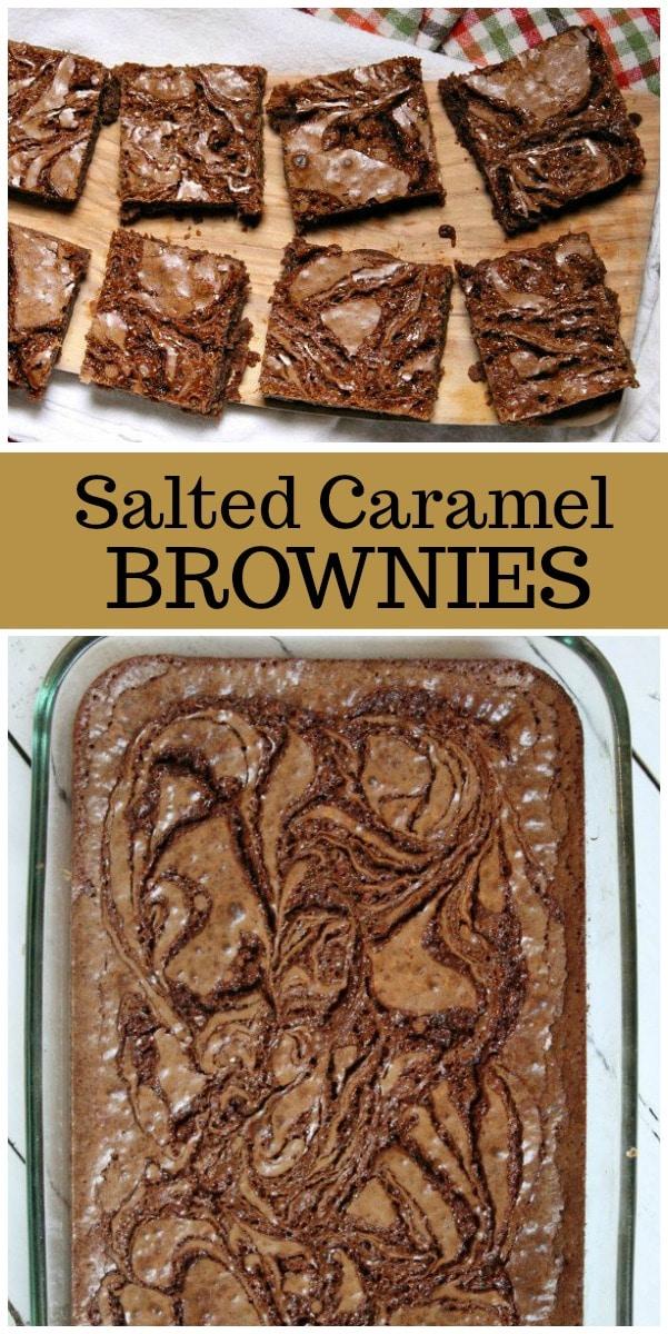 Salted Caramel Brownies recipe from RecipeGirl.com #caramel #brownies #recipe #RecipeGirl
