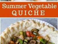 pinterest collage image for summer vegetable quiche