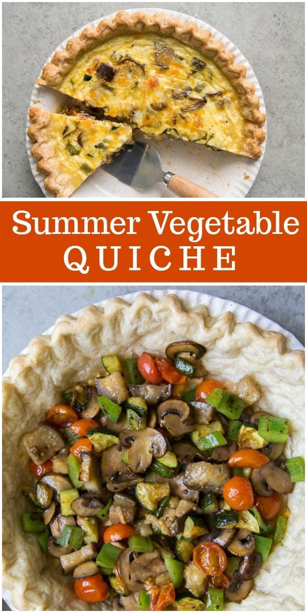 Summer Vegetable Quiche recipe from RecipeGirl.com #summer #vegetable #quiche #recipe #RecipeGirl