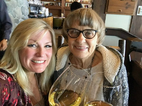 RecipeGirl and her Mom at Lone Eagle Grille