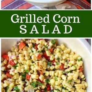 pinterest collage image for grilled corn salad