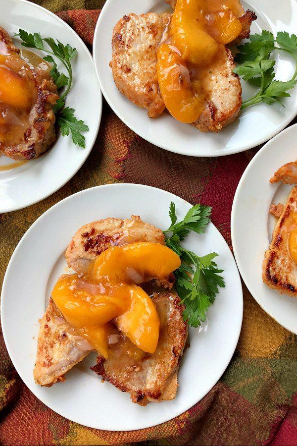 Pork with Peach Sauce