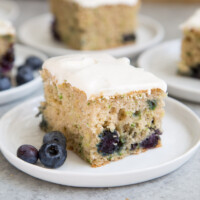 Blueberry Zucchini Sheet Cake