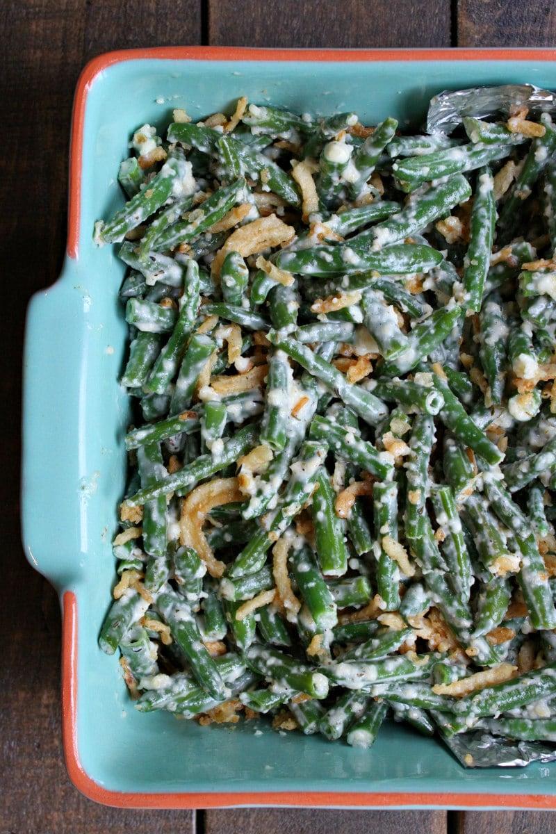 Garlic Parmesan Green Bean Casserole