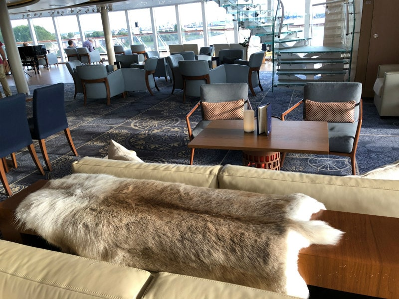 The Explorer's Lounge on board The Viking Star