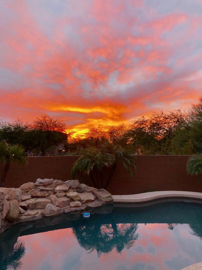 Western Sunset in Scottsdale, Arizona