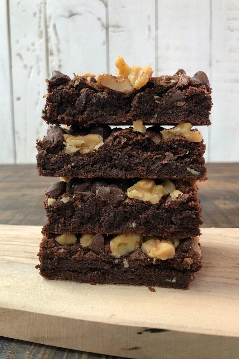 Chocolate Chip Walnut Brownies
