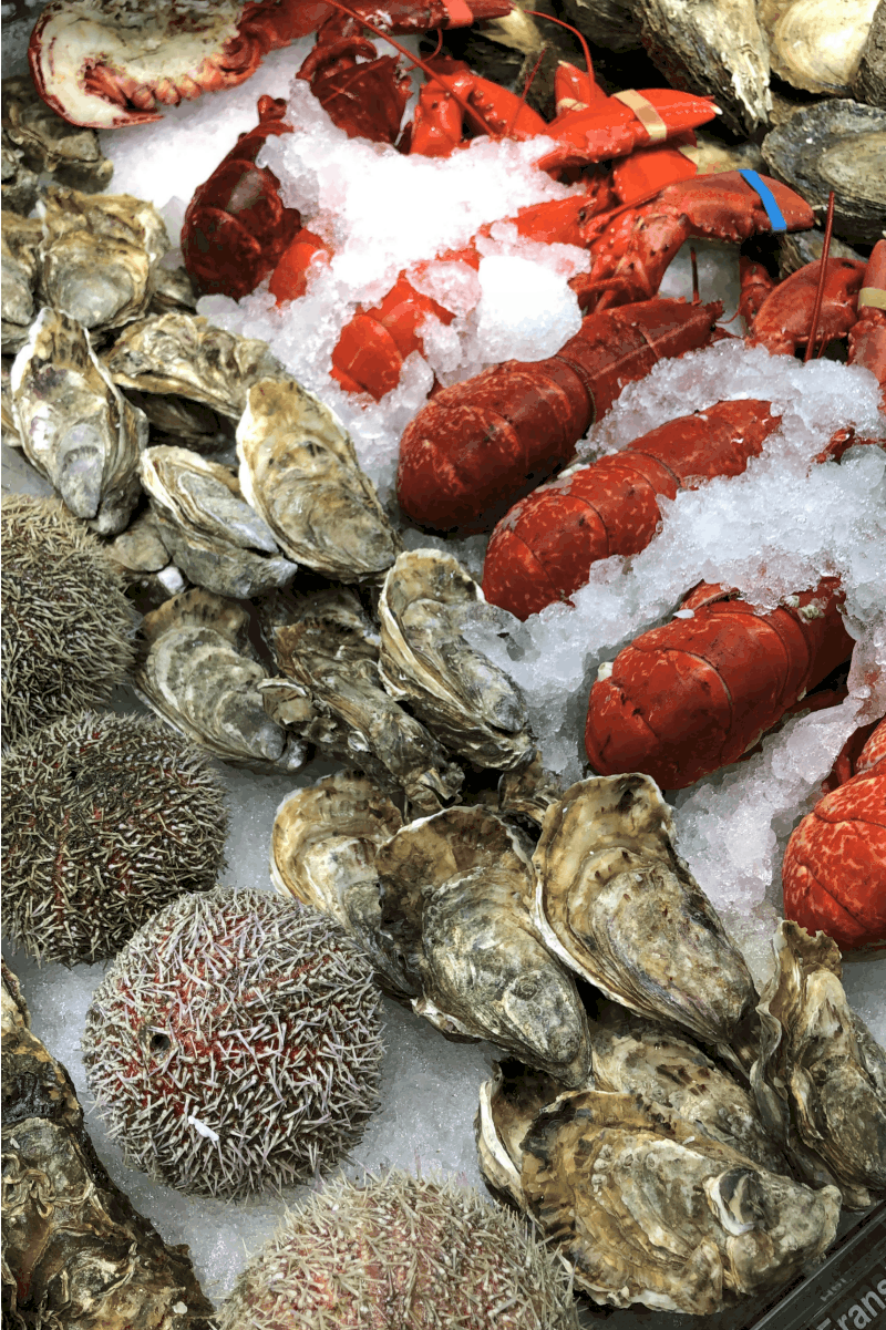 Seafood Market in Bergen, Norway