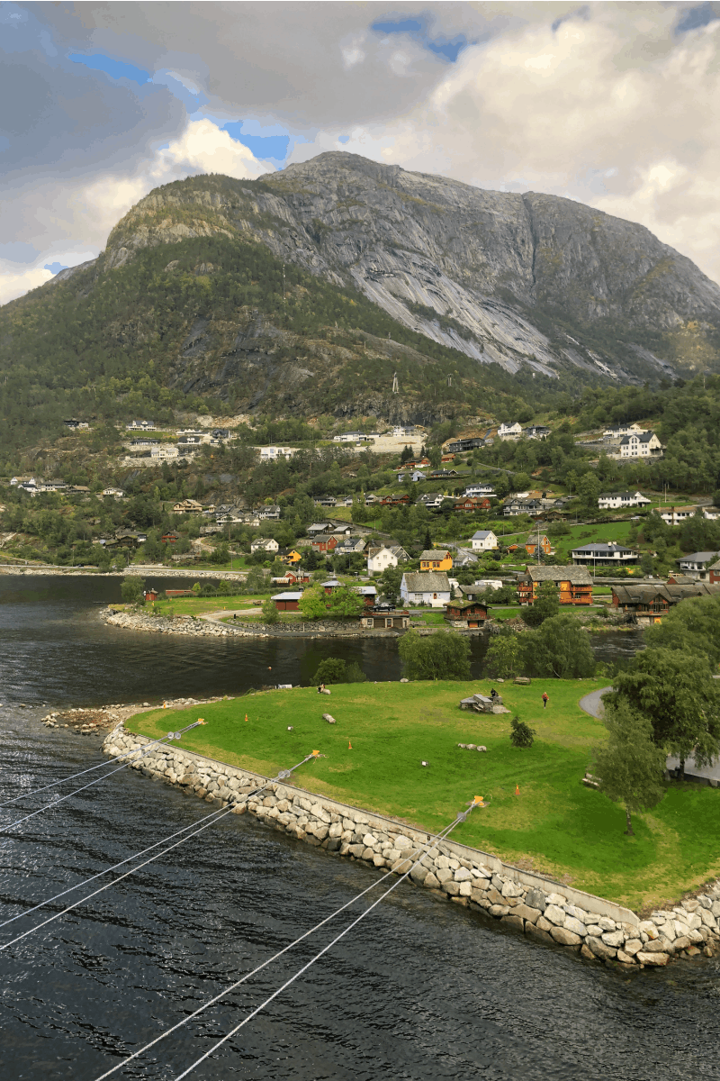 Docking in Eidfjord, Norway