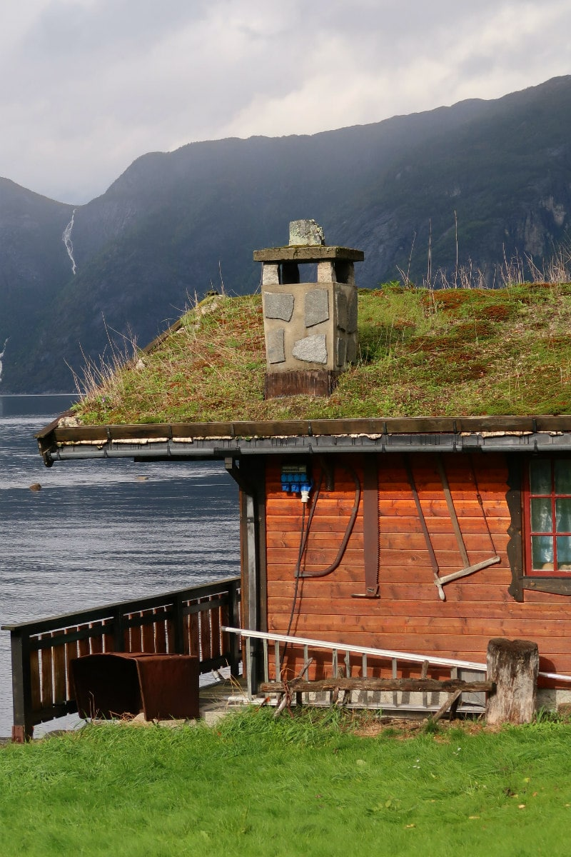 Grass top roof in Eidfjord, Norway